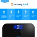 Body-Fat-ScaleLumsing-Smart-Digital-Body-Weight-Monitor-High-Percision-400lbs-Capacity-Measures-Weight-Body-Fat-BMI-Water-Muscle-and-Bone-Mass-Black-0-1