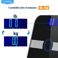 Body-Fat-ScaleLumsing-Smart-Digital-Body-Weight-Monitor-High-Percision-400lbs-Capacity-Measures-Weight-Body-Fat-BMI-Water-Muscle-and-Bone-Mass-Black-0-3