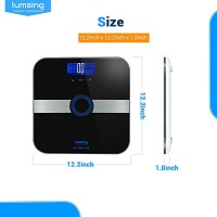 Body-Fat-ScaleLumsing-Smart-Digital-Body-Weight-Monitor-High-Percision-400lbs-Capacity-Measures-Weight-Body-Fat-BMI-Water-Muscle-and-Bone-Mass-Black-0-5
