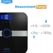 Body-Fat-ScaleLumsing-Smart-Digital-Body-Weight-Monitor-High-Percision-400lbs-Capacity-Measures-Weight-Body-Fat-BMI-Water-Muscle-and-Bone-Mass-Black-0-6