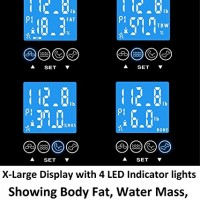 GoWISE-USA-Digital-Body-Fat-Scale-FDA-Approved-Measures-Weight-Body-Fat-Water-Bone-Mass-400-lbs-Capacity-Tempered-Glass-0-3
