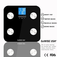 GoWISE-USA-Digital-Body-Fat-Scale-FDA-Approved-Measures-Weight-Body-Fat-Water-Bone-Mass-400-lbs-Capacity-Tempered-Glass-0-4