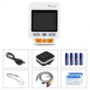 Heal-Force-180D-Color-Portable-ECG-Monitor-With-ECG-lead-cables-And-50pcs-ECG-electrodes-0-1