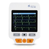 Heal Force 180D Color Portable ECG Monitor With ECG lead cables And 50pcs ECG electrodes