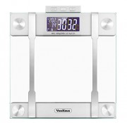 VonHaus-Body-Fat-Scale-BMI-Weight-Scale-with-Body-Composition-Analyser-Hydration-Monitor-400lb-Weight-Capacity-SilverGlass-Bathroom-Weight-Scales-0