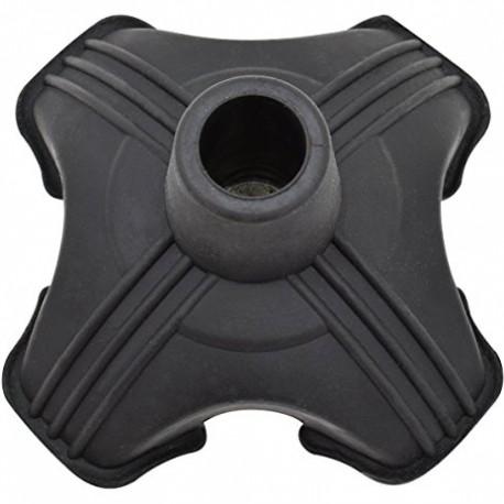 Secure Self Standing Quad Support Cane Tip Black Fits 34